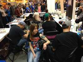 Want some ink? Epic Ink was at the convention, showing off their impressive skills to fans.