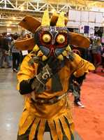 This Zelda character costume, made entirely by hand, took hours to complete.
