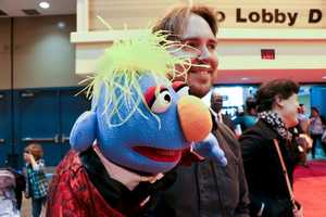 Is he a man, or is he a Muppet? Clint Durrett and friend.