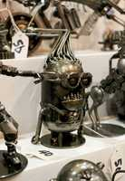 Steampunk sculptures.