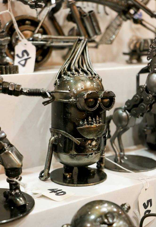 Steampunk sculptures.