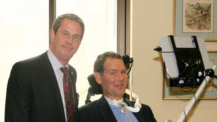 Sen. David Vitter and former New Orleans Saint Steve Gleason