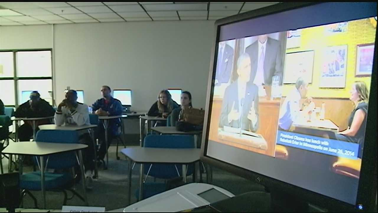 Students at one community college react to President's Obama's proposal of free tution.