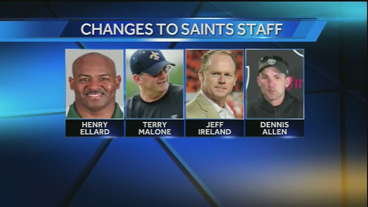 The New Orleans Saints make staffing and coaching changes after failing to meet expectations in 2014 season.