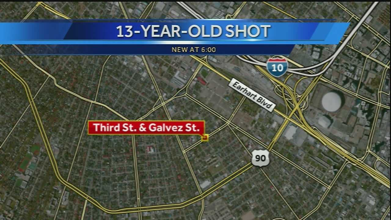 A 13-year-old boy was shot in Central City on Monday, but police said the child didn't report the incident until Wednesday.