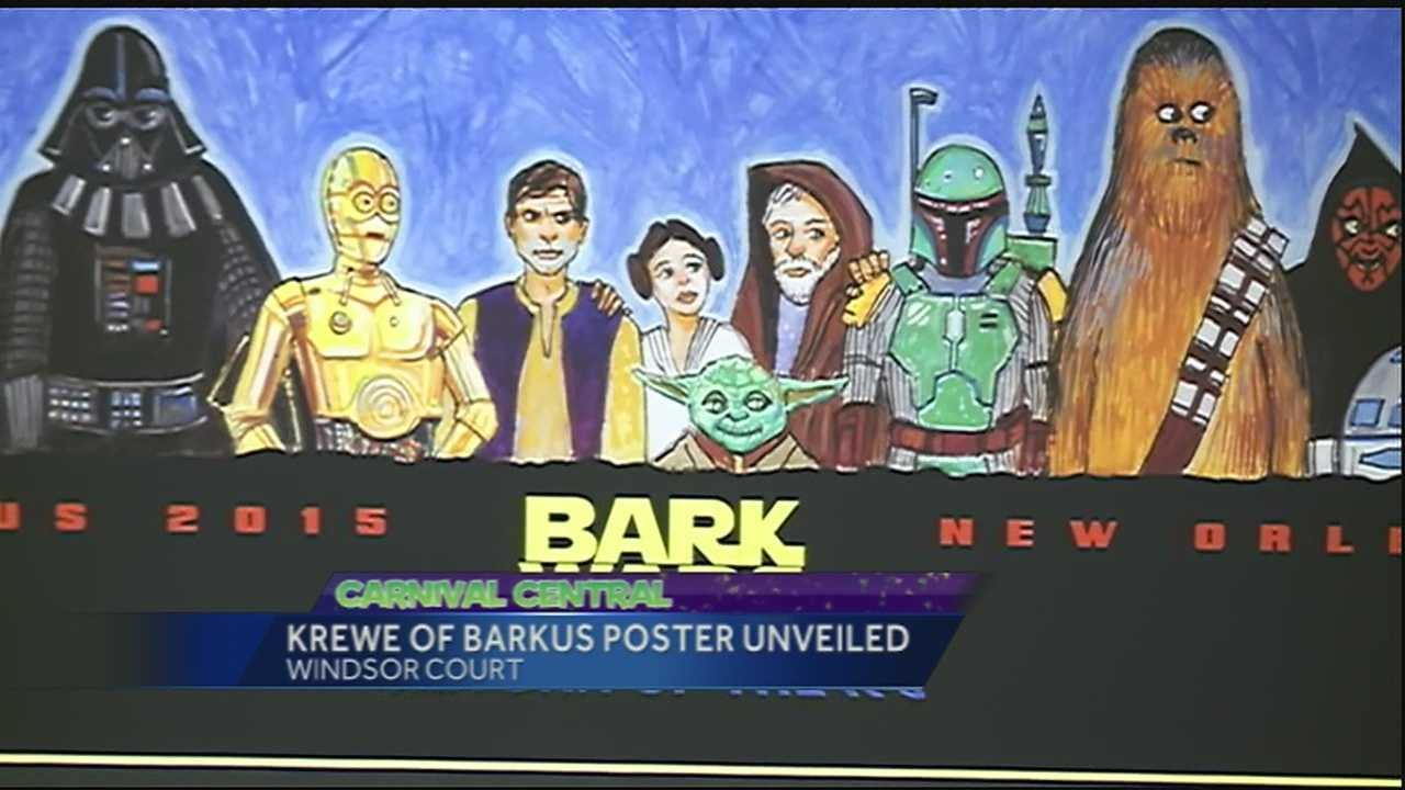 The Krewe of Barkus revealed it s poster for the 2015 parade.