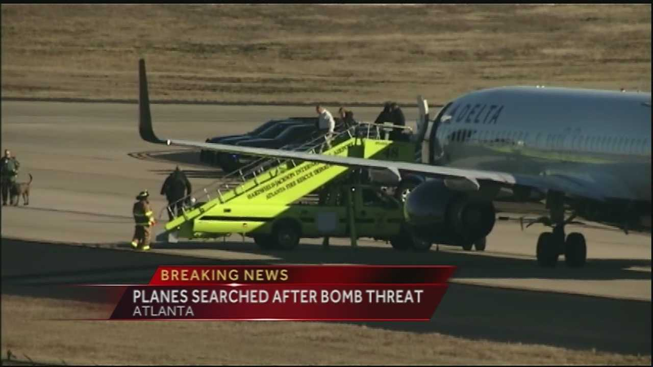A plane that was scheduled to land Saturday afternoon in New Orleans was canceled after a bomb threat was discovered.