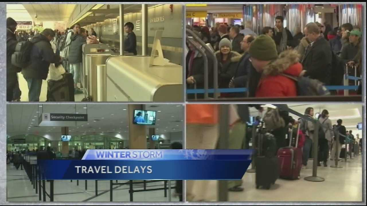 Thousands of flights in and out of the Northeast have been canceled, causing a mess at airports across the country. Travelers were told not to expect New York's LaGuardia to open at all on Tuesday.