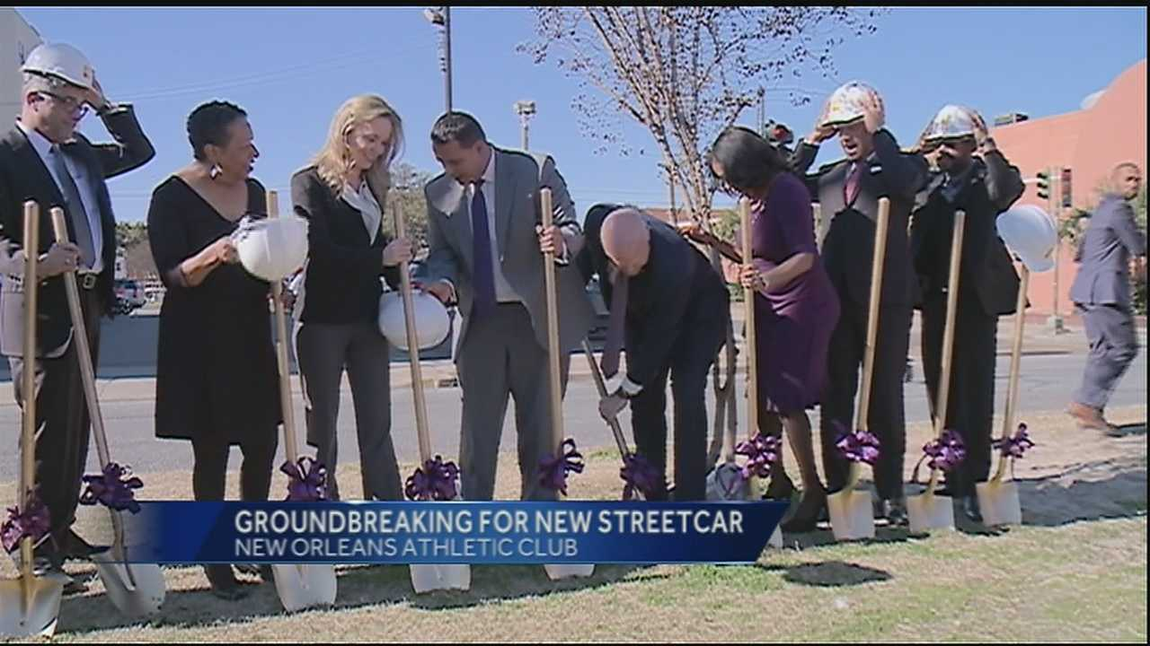 City leaders broke ground on a new streetcar line that being built along North Rampart Street.