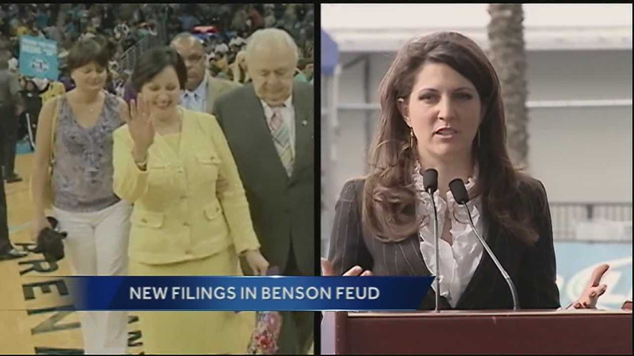 The battle over the Benson empire continues to play out in Orleans Civil Court.