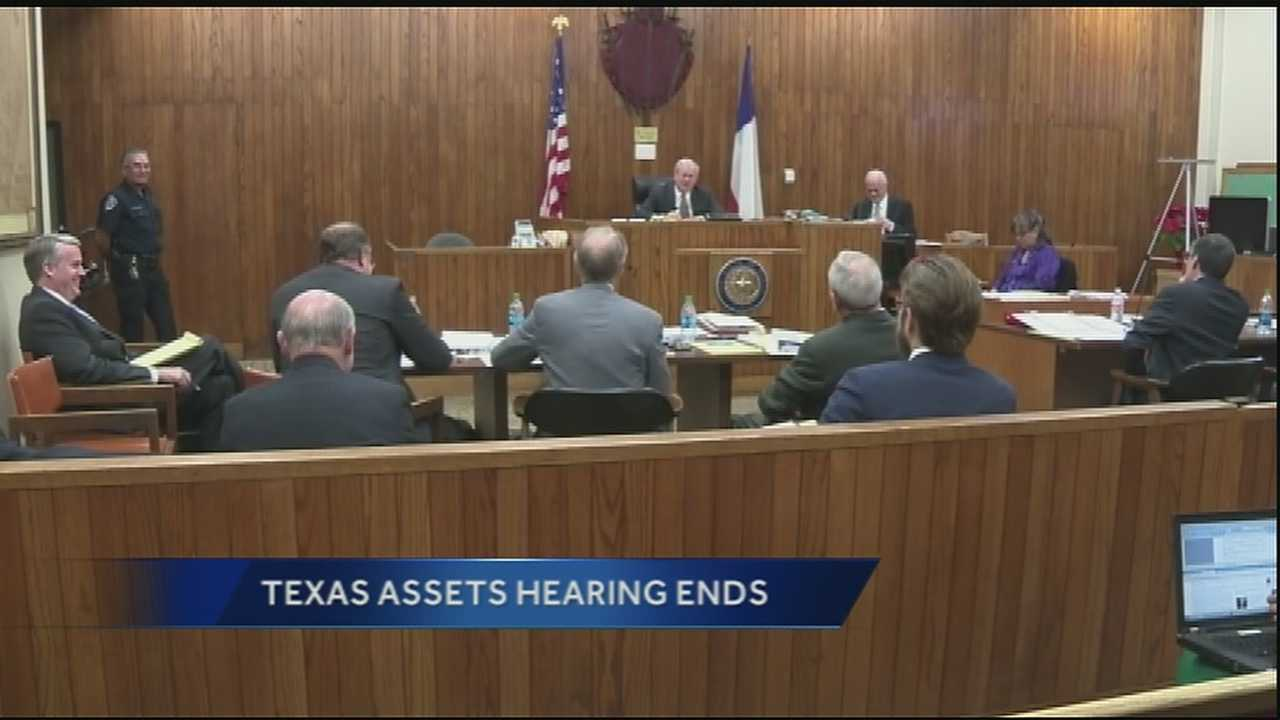 The hearing is now over and the Texas judge did not make an official ruling. Instead he assigned former San Antonio Mayor Phil Hardberger as an assistant in the matter.