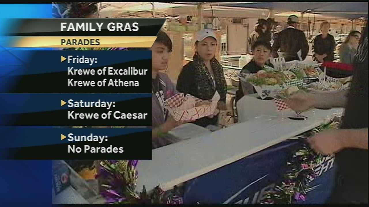 Mardi Gras parades start rolling in New Orleans on Friday night, and Jefferson Parish also has plans to get the carnival party started with the first night of its eighth annual Family Gras.