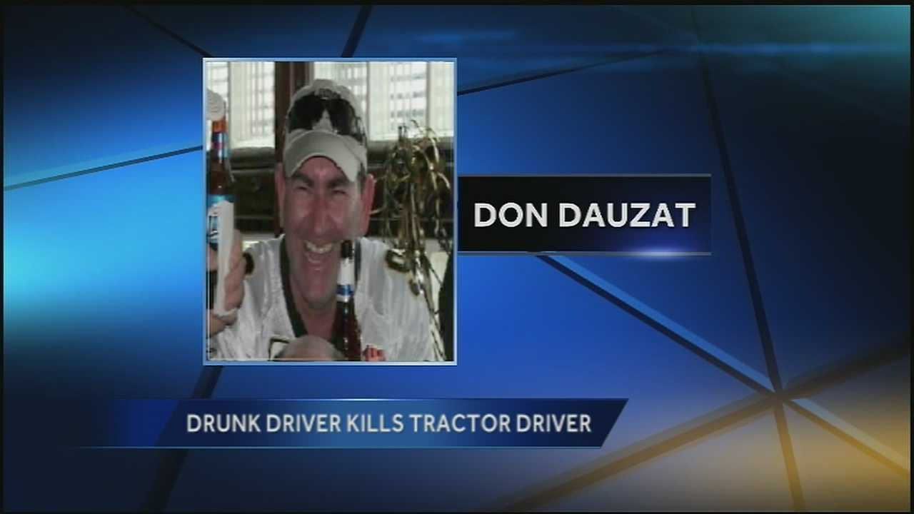A Marrero man is dead Monday after he was struck while driving a tractor back from parades and left in critical condition.