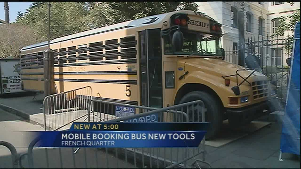Authorities announced the Booking Bus Thursday afternoon, which will make holding people arrested during Carnival easier for officers.