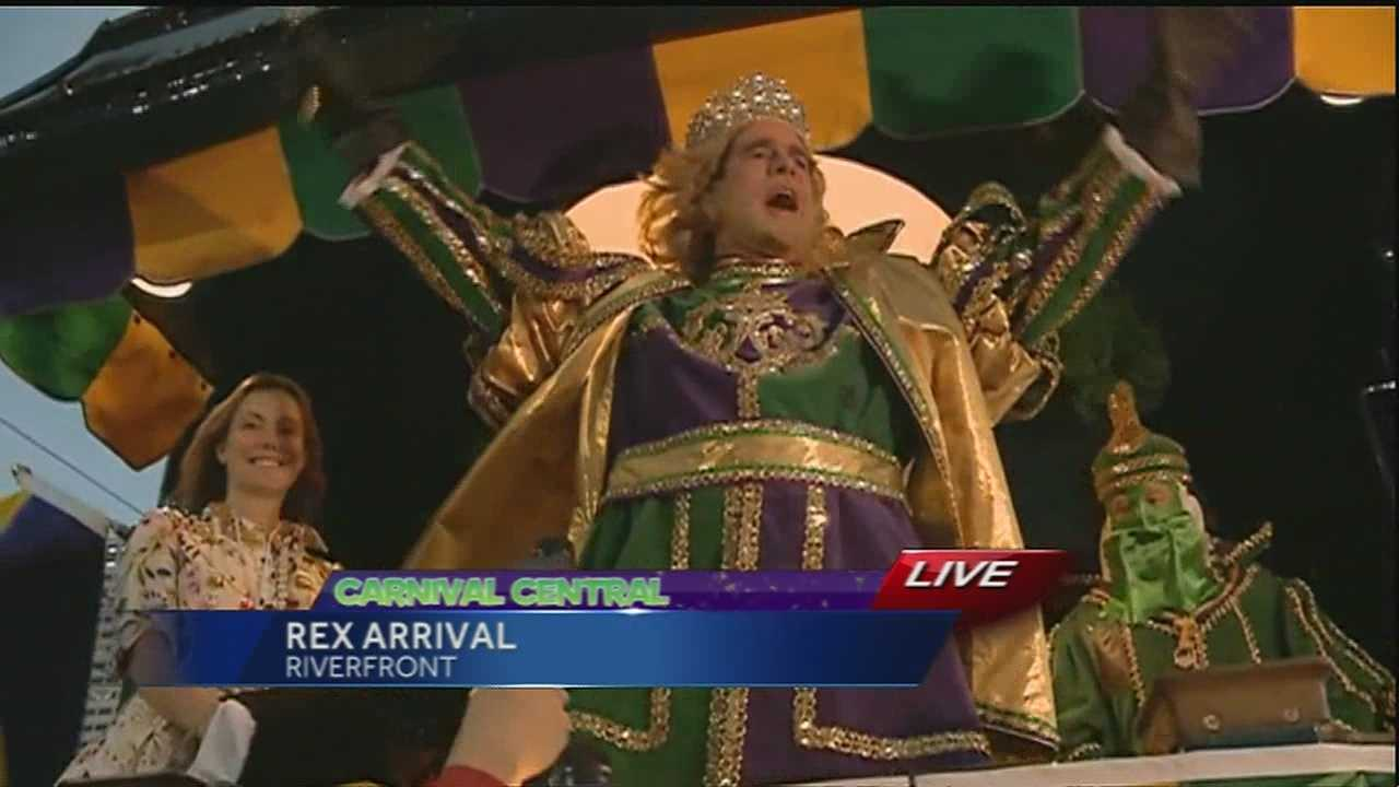 Rex, the King of Carnival, has arrived in New Orleans for Mardi Gras.