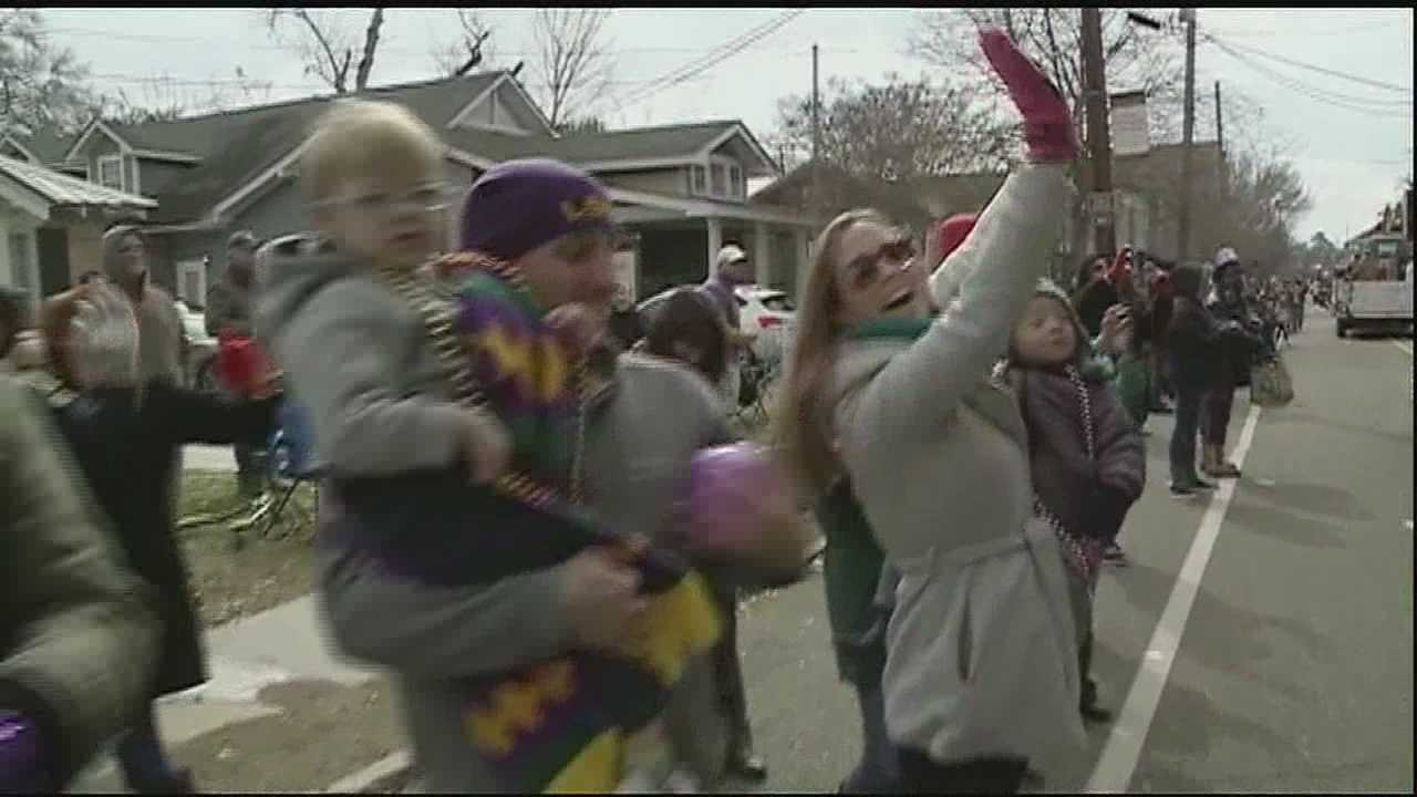 Cold weather wasn't enough to stop the Northshore from celebrating Mardi Gras.