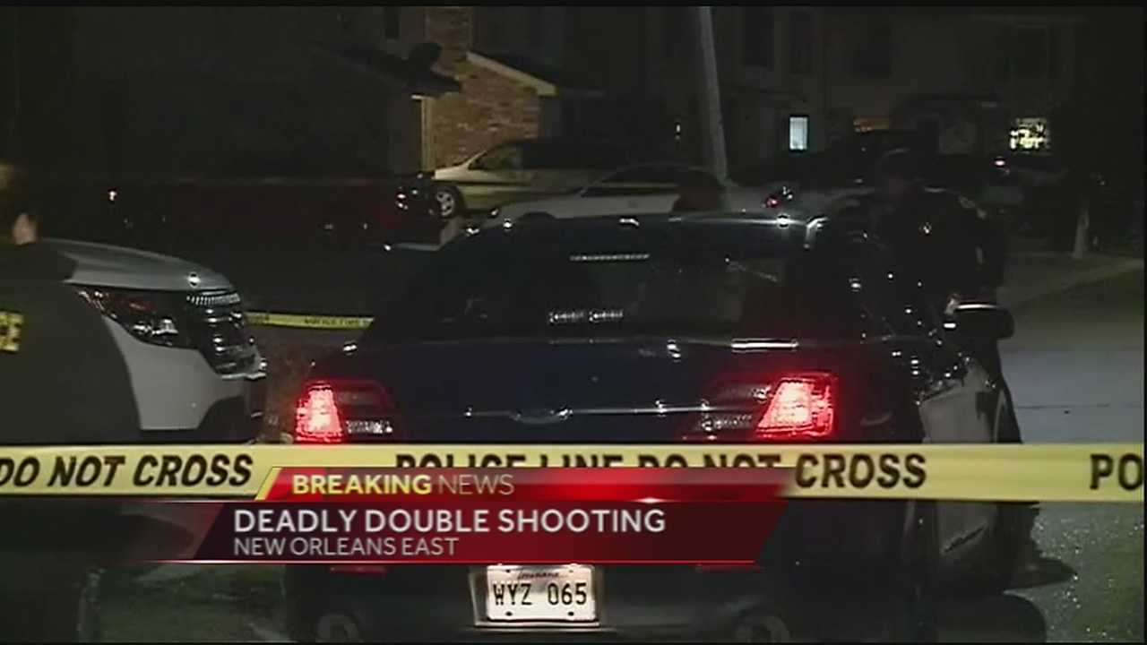 One man is dead and a woman is in the hospital after a shooting Wednesday night in New Orleans East.