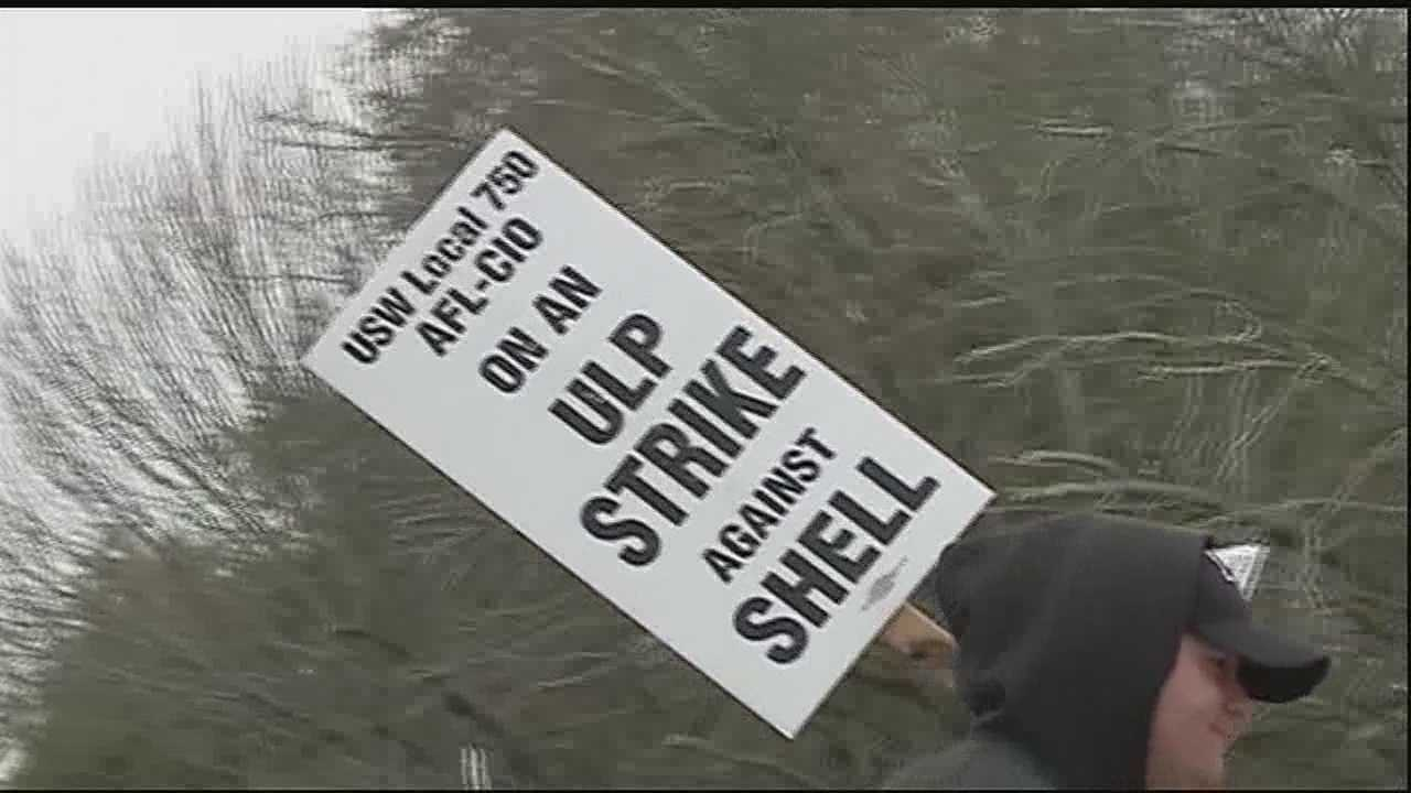 Some business and resident the effects after United Steelworkers union members joined a nationwide oil refinery strike over the weekend.