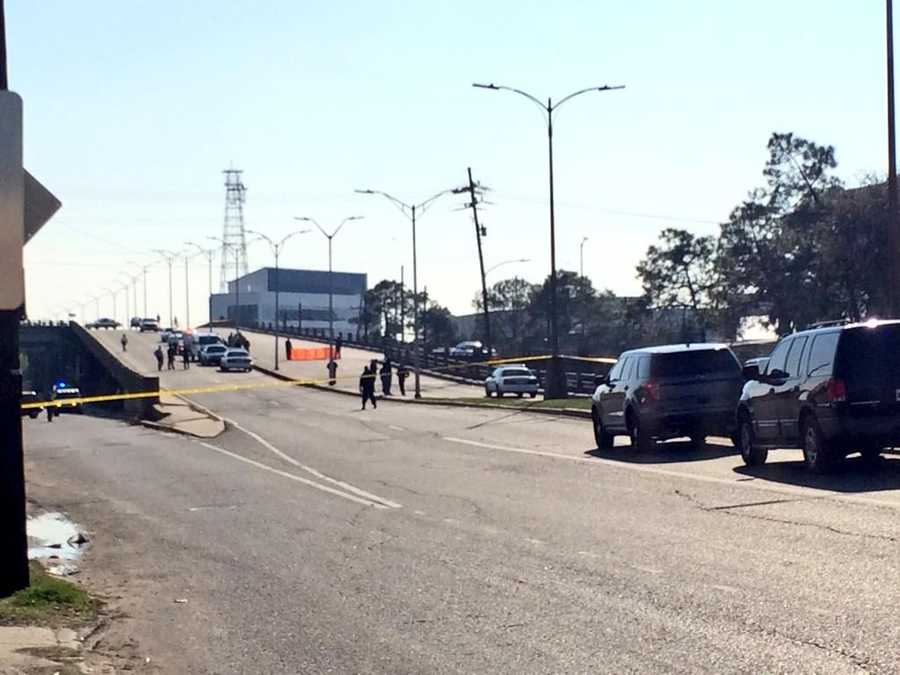 New Orleans police investigate the scene of a homicide after a shooting was reported in the 700 block of South Broad Street.