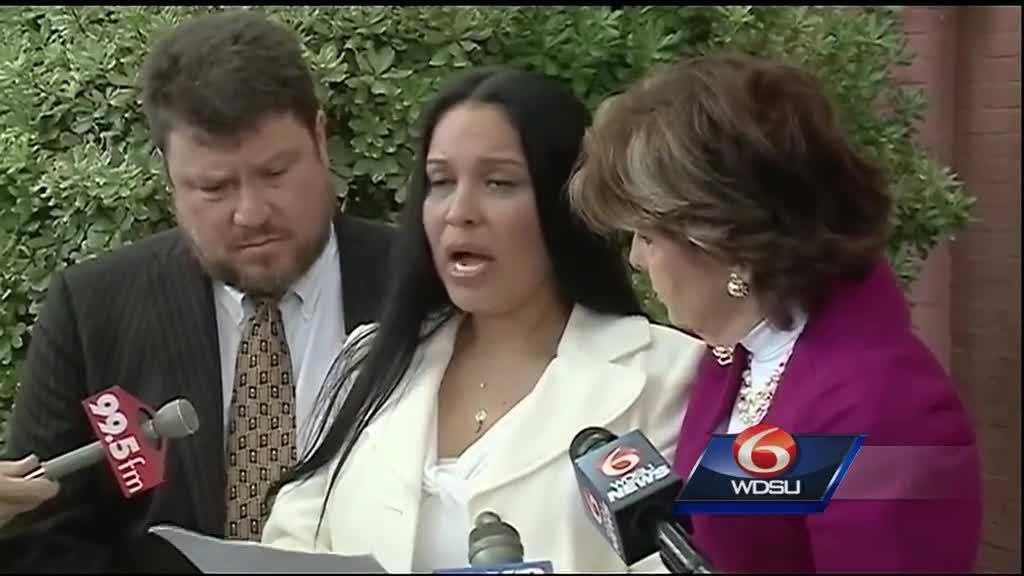 Texas rape victim with Gloria Allred.