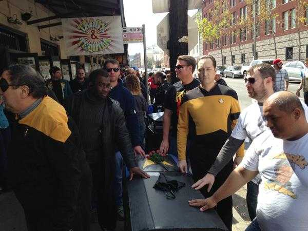 A second line took to the streets Sunday afternoon in honor of Leonard Nimoy.