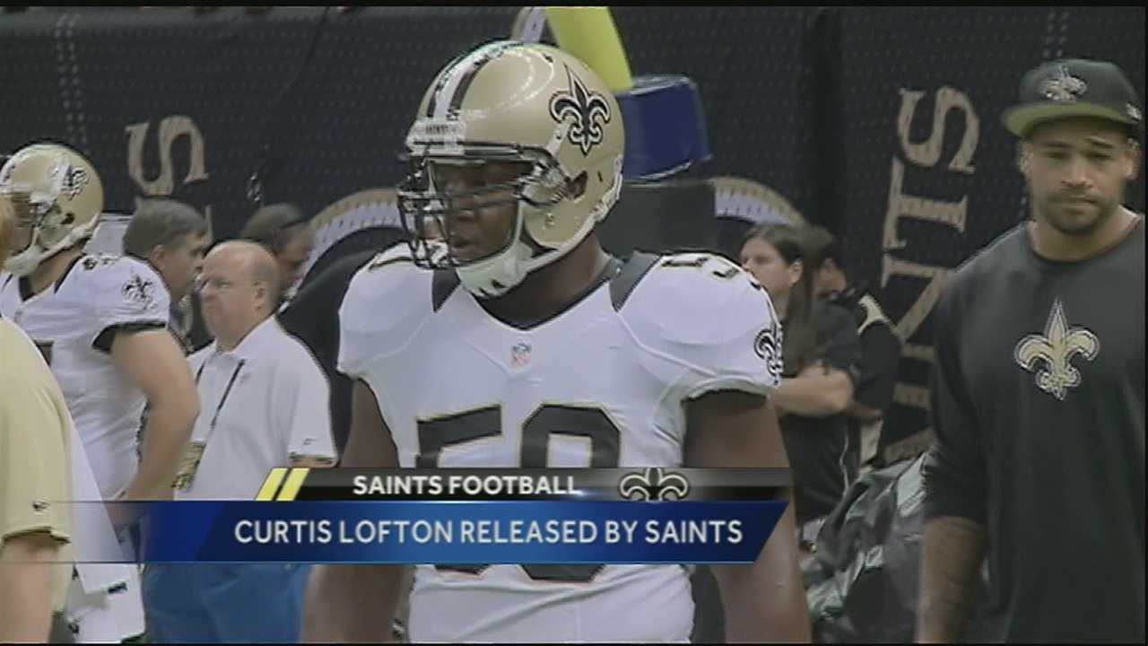The New Orleans Saints have released defensive team captain Curtis Lofton.