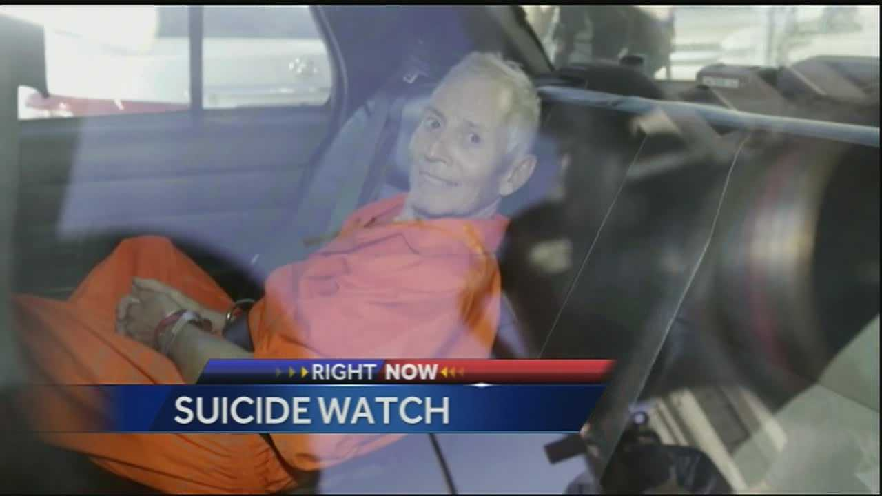 Officials say troubled real estate heir Robert Durst has been moved to a state prison with a mental health unit because he's considered a suicide risk.
