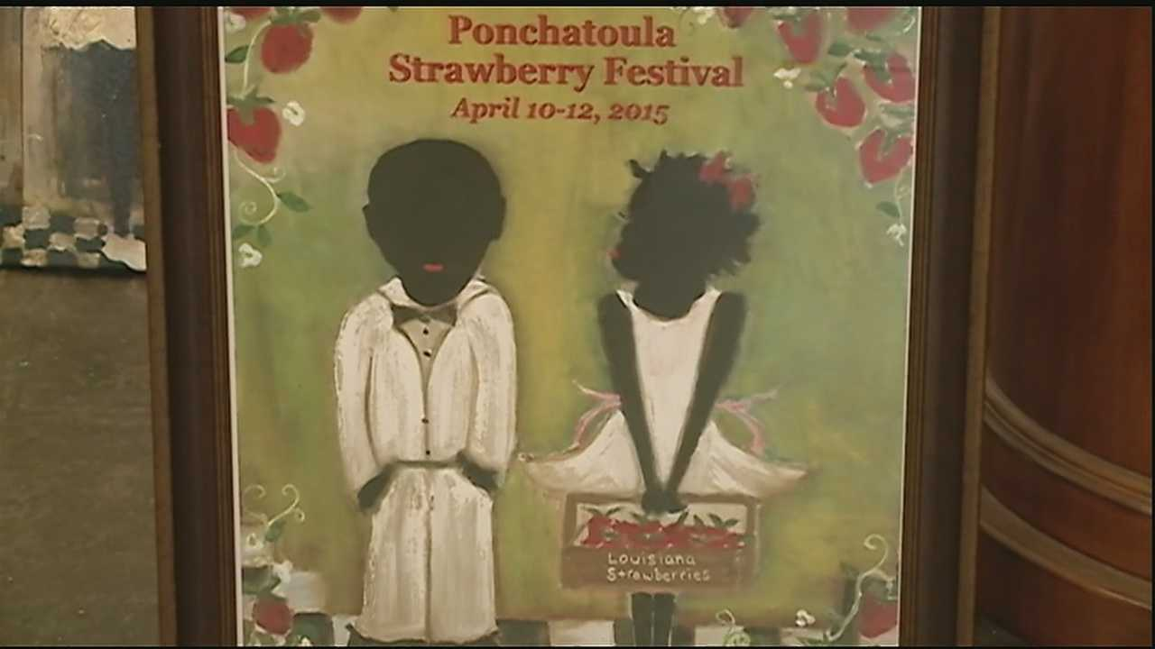 A poster for this year's Ponchatoula Strawberry Festival has ignited a firestorm of controversy.