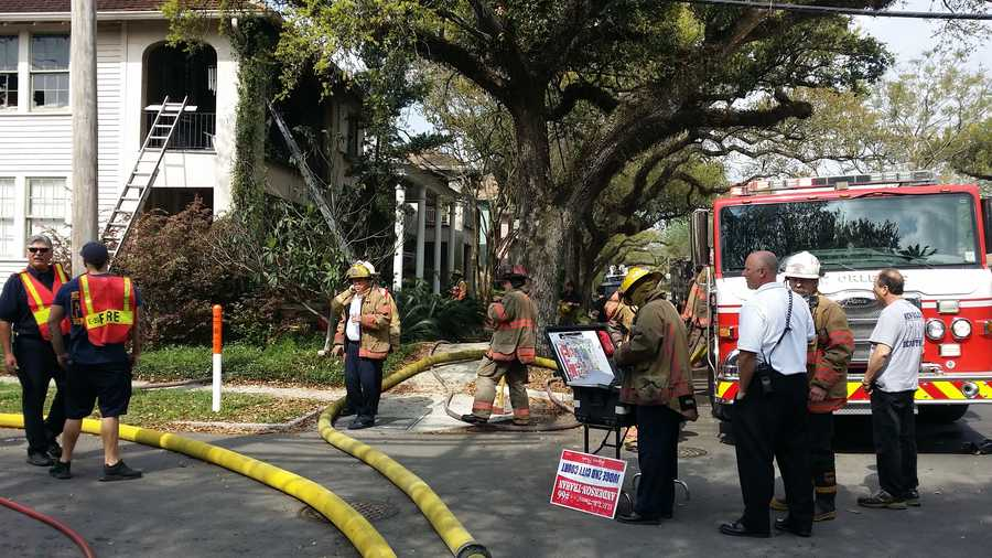 A two-alarm fire broke out at a home Saturday morning on Fontainebleau Drive.