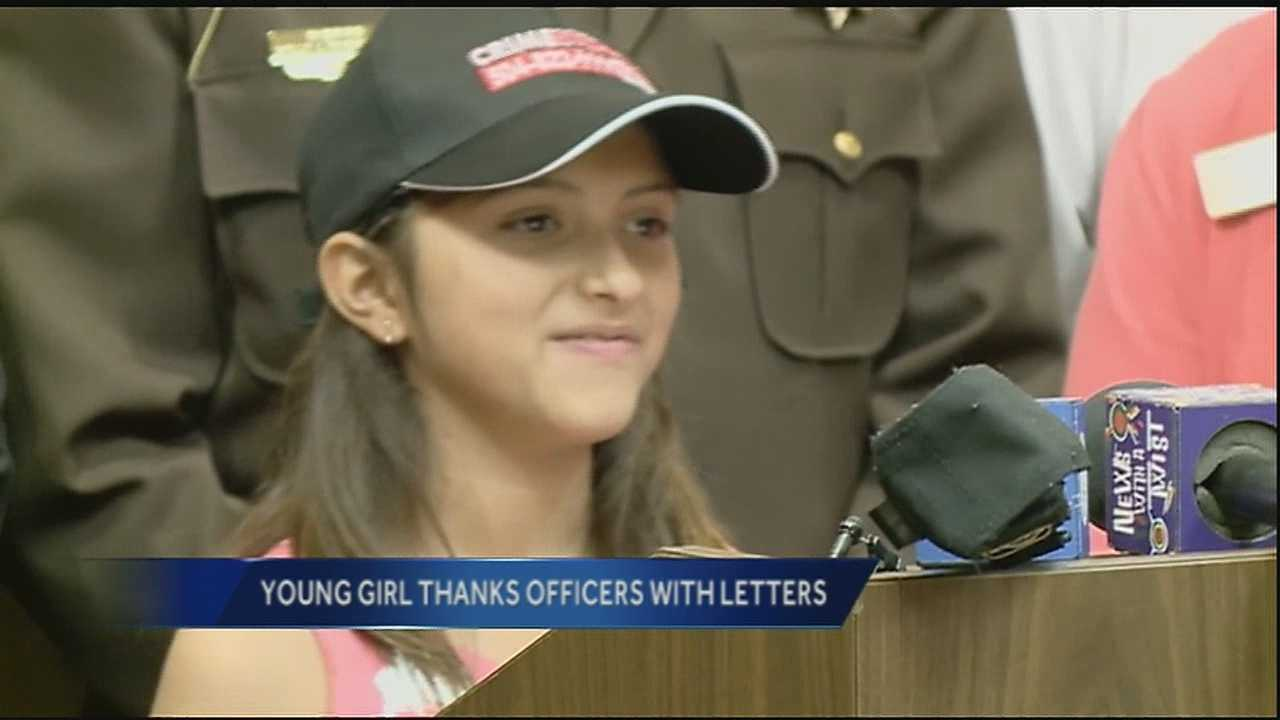 A 10-year-old girl from Tyler, Texas, is challenging New Orleans to thank its law enforcement officers.
