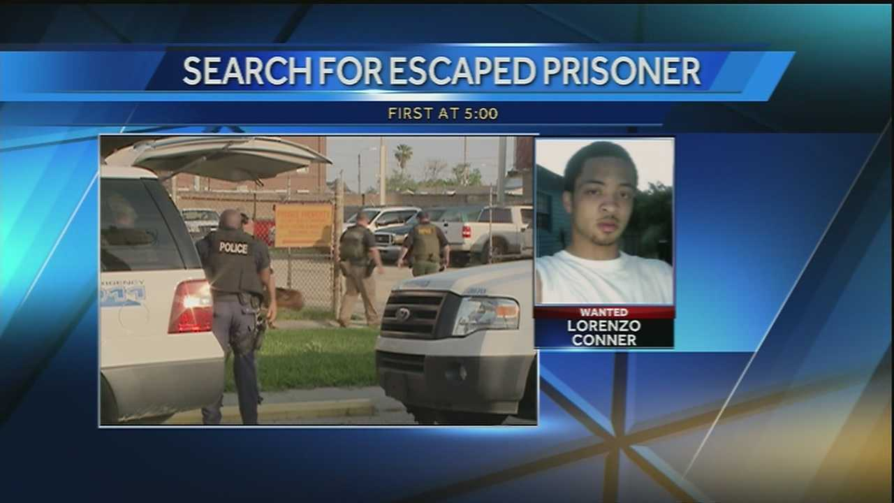 A search continues for an inmate who escaped from custody Tuesday morning in Mid-City.