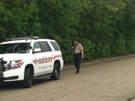 Authorities in St. Tammany Parish search for a shooter who fired a rifle near the Lakeview Regional Medical Center.