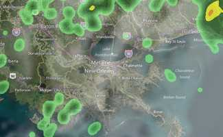10 p.m.: Some spotty showers. But overall, much better than earlier Tuesday.