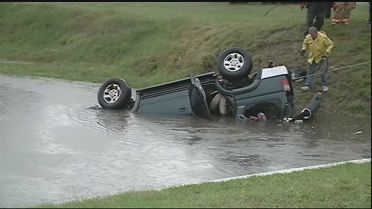 A 6-year-old girl died after an SUV she was riding in overturned into a canal in Metairie.