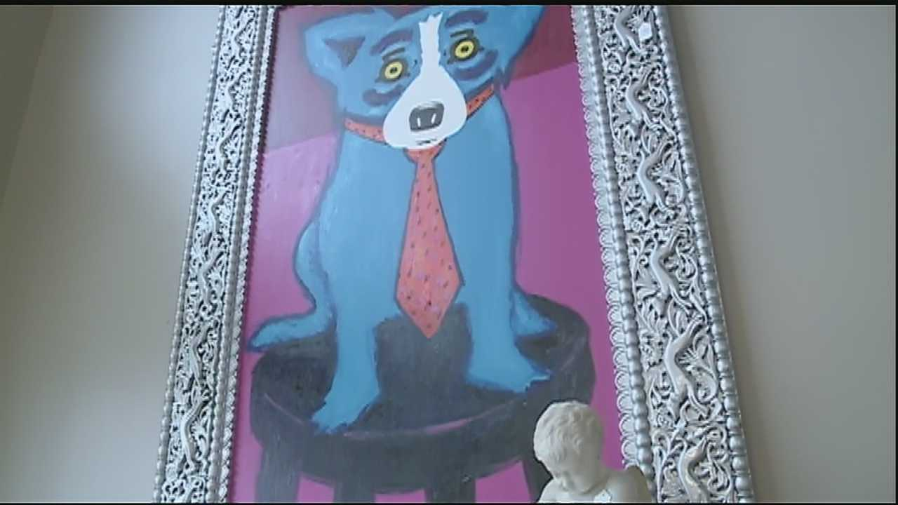 The largest Blue Dog painting to be sold at a public auction goes up for sale Saturday.