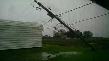 Power line and minor home damage Lafourche Parish north of Raceland