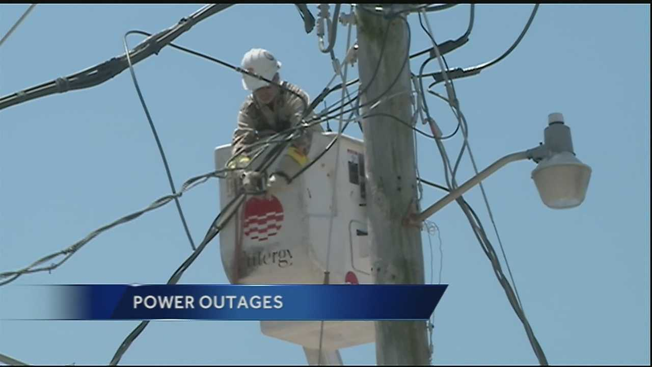 Entergy crews are working around the clock to restore power after Monday's severe weather.