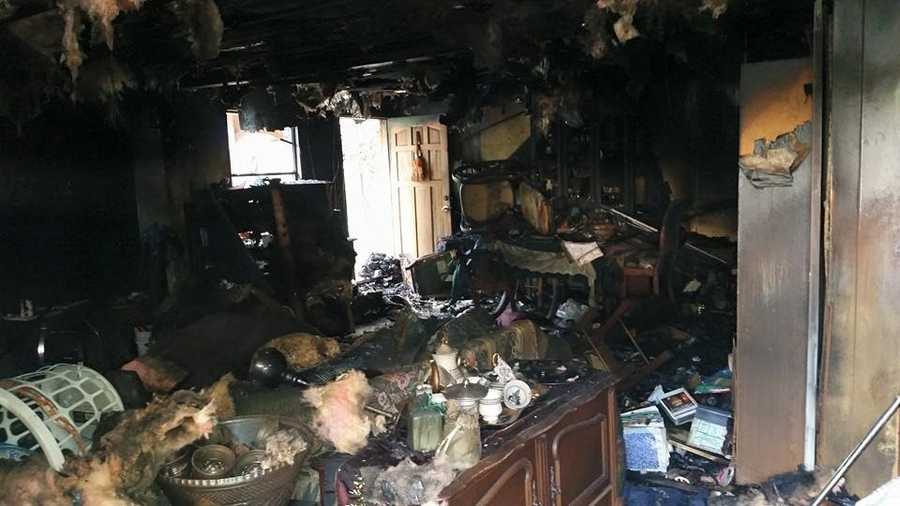 Firefighters were able to extinguish the blaze quickly and then began searching for victims, only finding a small dog in the home, suffering from complications due to smoke and heat.