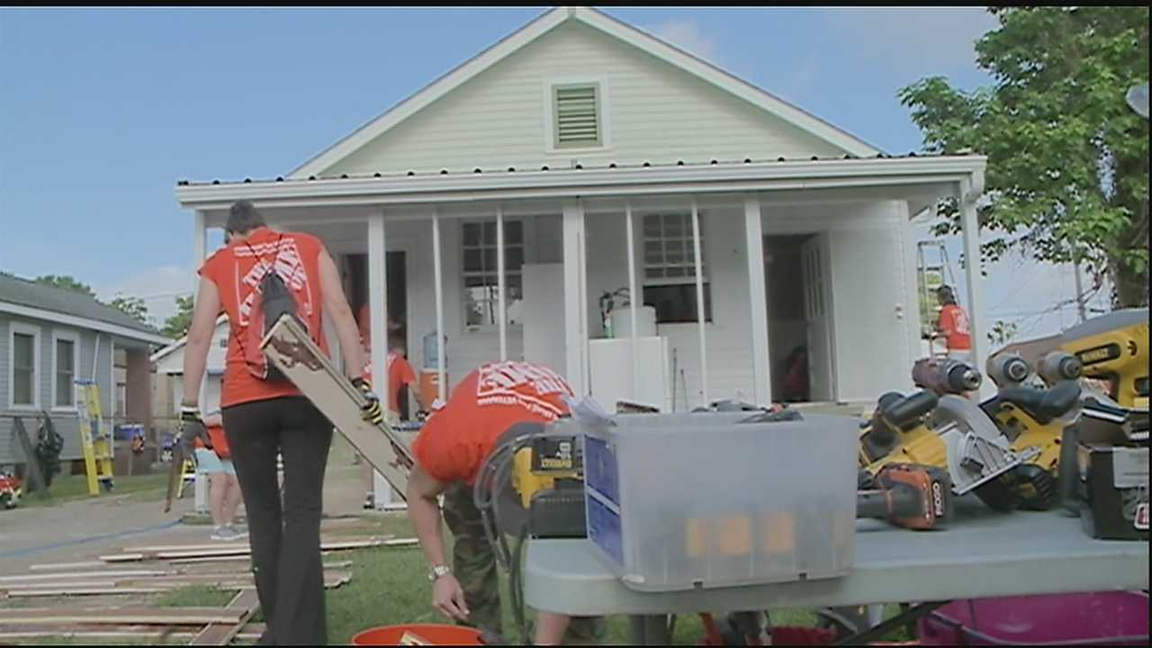 As the 10-year anniversary of Hurricane Katrina approaches, many families across the area are still working to rebuild their lives.  On Thursday, 500 volunteers from Rebuilding Together New Orleans, the Home Depot Foundation, Habitat for Humanity and several other organizations are hoping to make that process a little easier for some of them.