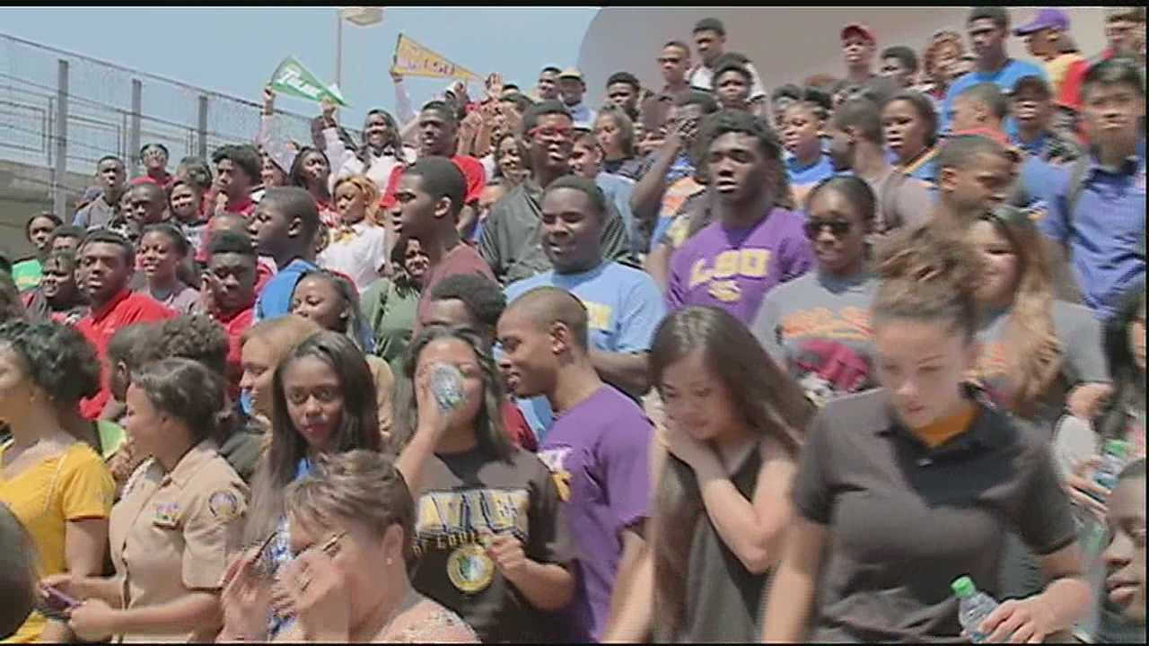 Seniors in New Orleans announce where they will be going for college
