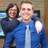 Andy Cunningham and his mother.