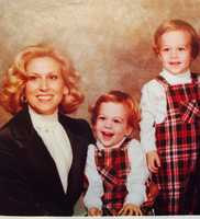 Fletcher and Travers Mackel and their mother.