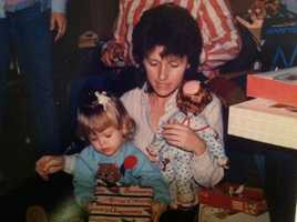 A young Randi Rousseau with her mother.