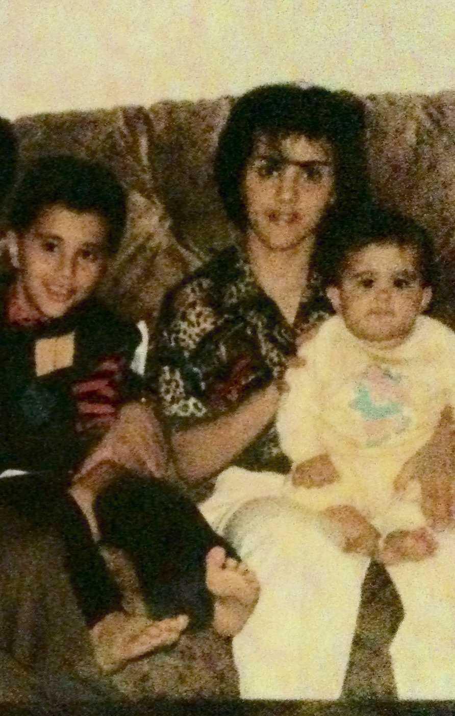 Sharief Ishaq and his mother.