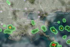 11 a.m.: Rain and storms are popping up across southeast Louisiana. Track the rain in this hour-by-hour slideshow. Rain models are subject to change.