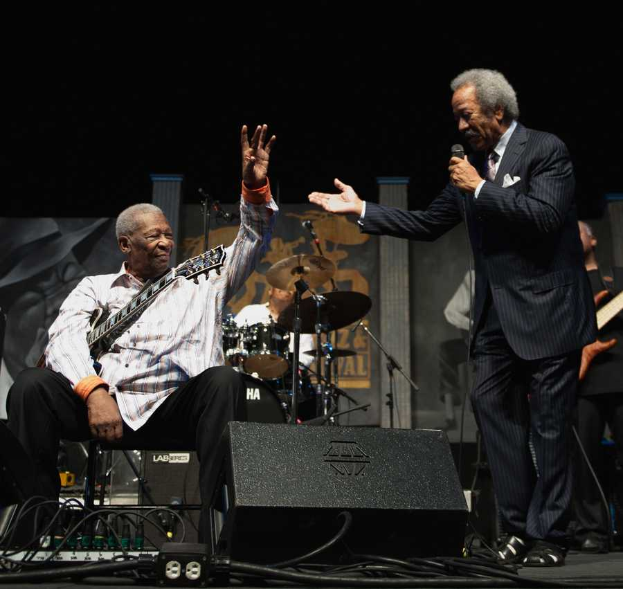 B.B. King played Jazz Fest dozens of times. His first appearance was in 1972.