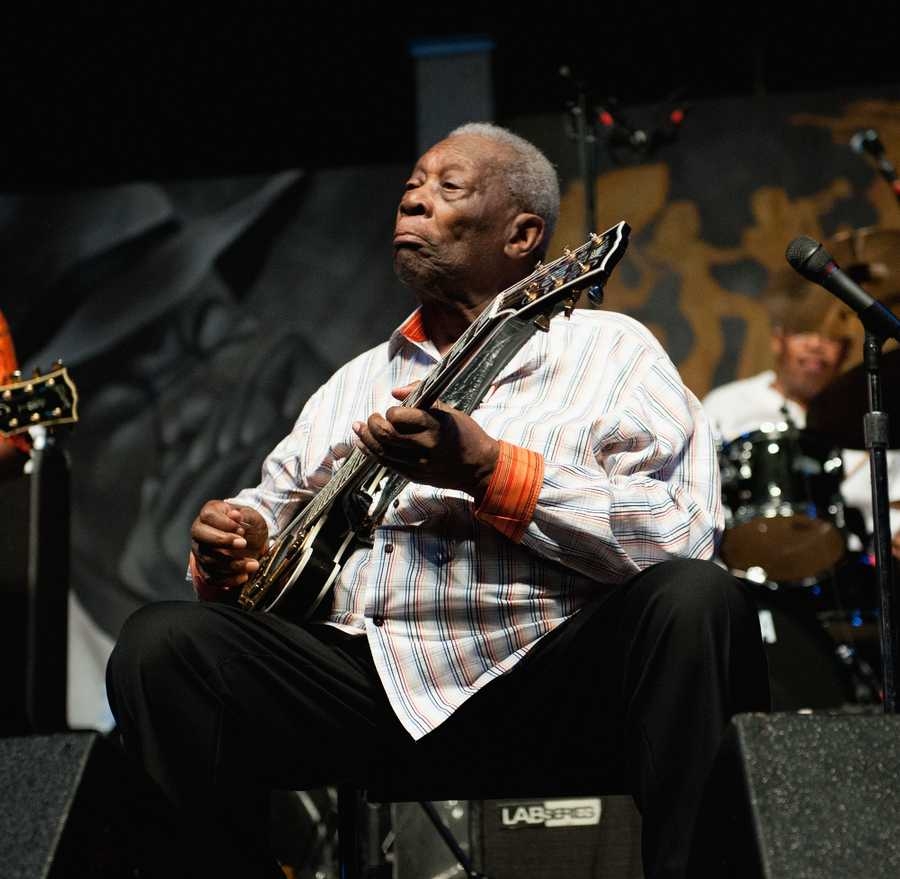 """The Mississippi native's reign as """"king of the blues"""" lasted more than six decades and straddled two centuries, influencing a generation of rock and blues musicians, from Eric Clapton and Stevie Ray Vaughan to Sheryl Crow and John Mayer."""