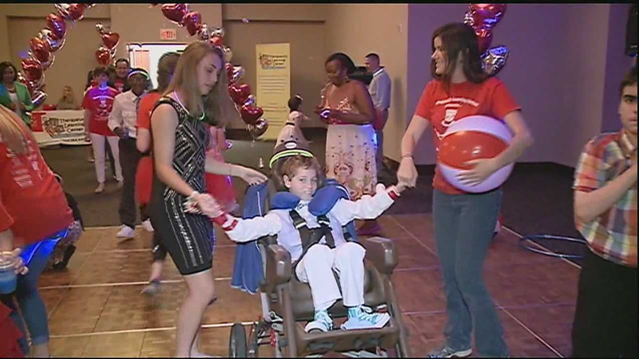 As prom season wraps up, a special group of children who weren't able to participate in their own school dances were treated to a party of their own.