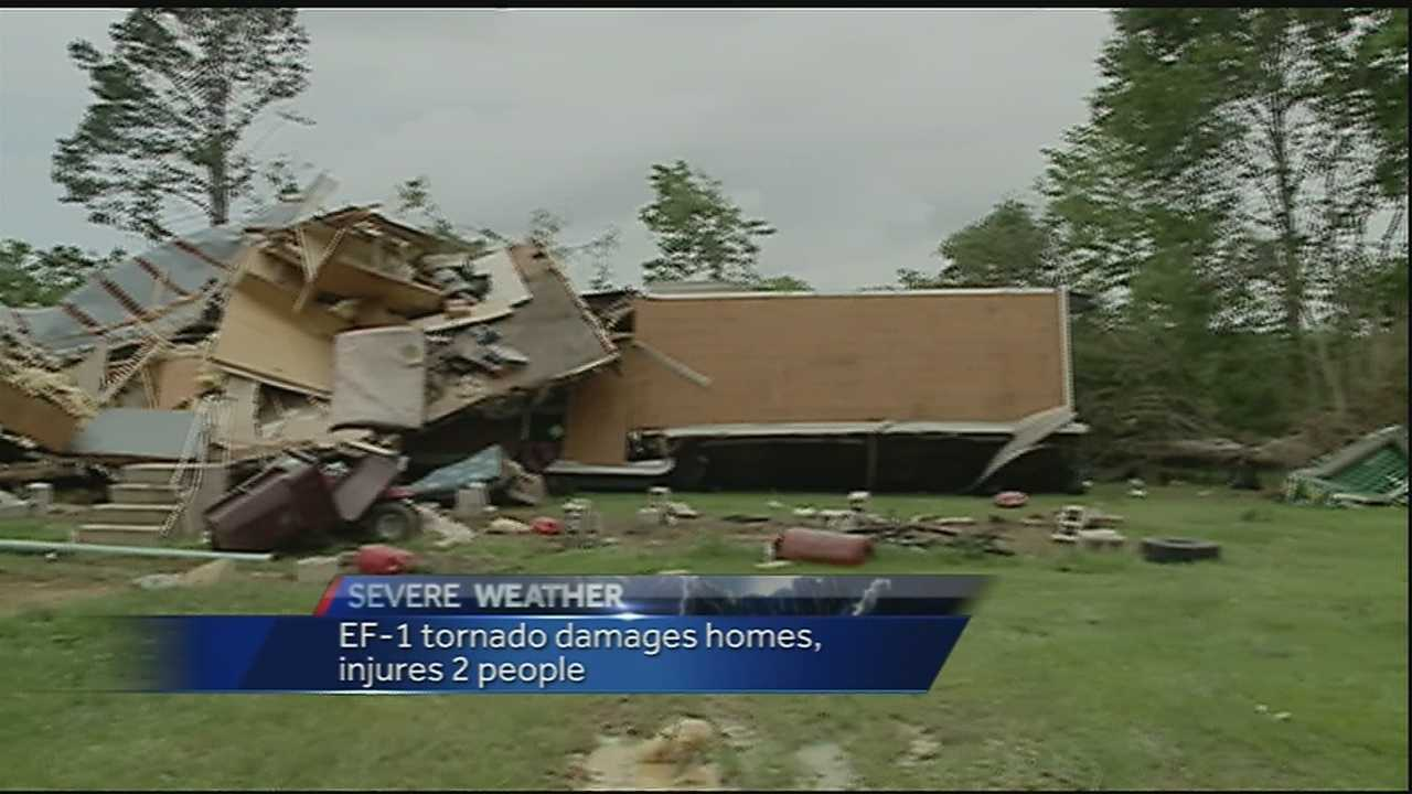 The National Weather Service confirmed an EF1 tornado hit Tickfaw early Sunday morning.