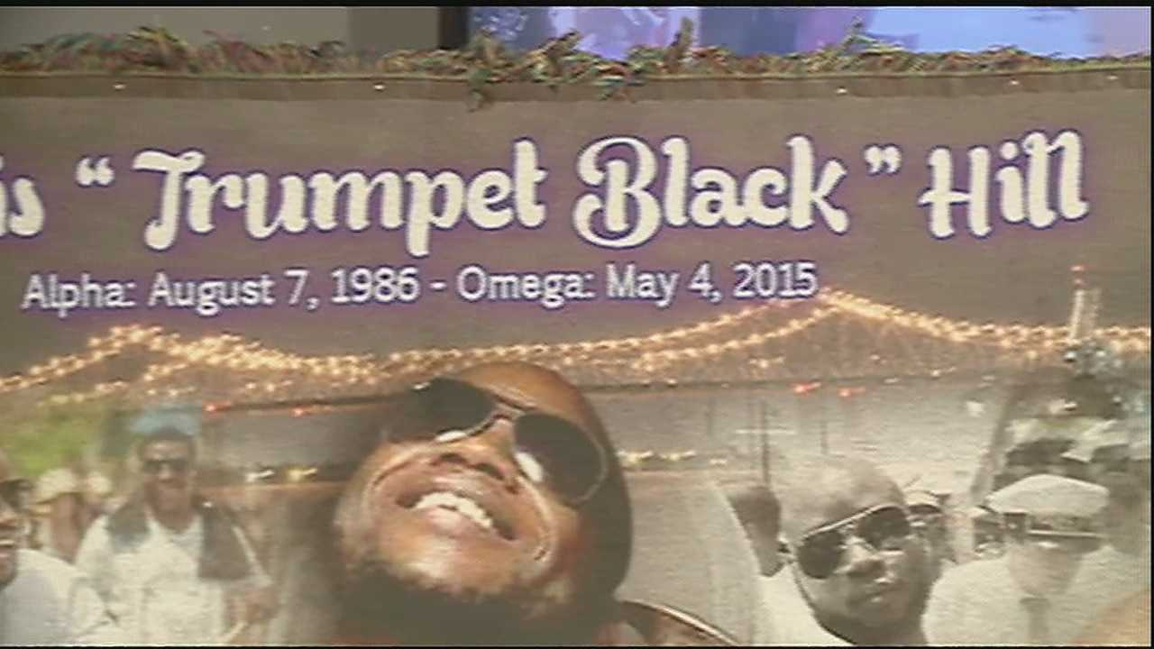 Family, friends, fans and fellow musicians gathered Saturday at the Carver Theater in Treme to say farewell to a fallen trumpeter.